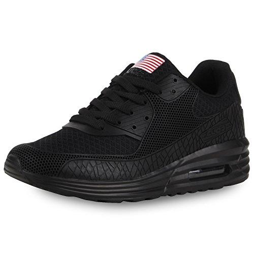 napoli-fashion , Chaussures de sport d'extérieur pour homme Schwarz Usa