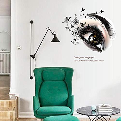 Pegatina pared ojo miel 60 x 55 cm vinilo ideal dormitorio salon de belleza peluquerias, centros de estetica, mampara baño, puertas armarios. regalo. de CHIPYHOME