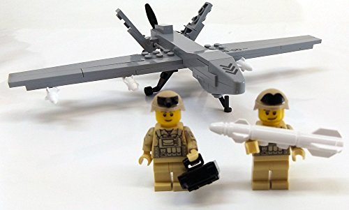 Modbrix 2147- ★ US AIR FORCE Drohne MQ-9 Reaper inkl. custom US ARMY Special Forces Soldaten aus original Lego© Teilen ★ - 4