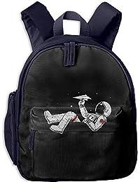 Preisvergleich für Funny Schoolbag Backpack Astronauts Play Paper Planes In Space Toddler Kids Pre School Bag Cute 3D Print Children...