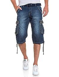 BLZ jeans - Pantacourt bermuda cargo bleu délavé