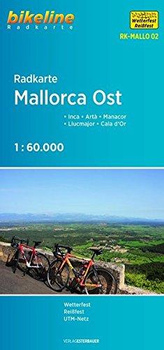 Preisvergleich Produktbild Radkarte Mallorca Ost: Inca - Artà - Manacor - Llucmajor - Cala d'Or 1:60 000