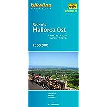 Radkarte Mallorca Ost: Inca - Artà - Manacor - Llucmajor - Cala d'Or 1:60 000