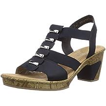 Elegant Rieker Schwarz Damenschuhe Sandalen Sandalette Finde