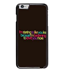PrintDhaba Quote D-2867 Back Case Cover for APPLE IPHONE 6 (Multi-Coloured)