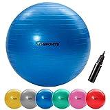 ScSPORTS Gymnastik-/Sitzball, zur Entlastung der Wirbelsäule, als Yogaball...