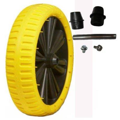 Flex Lite PU Sackkarrenrad gelb schwarz pannensicher Fort Ersatzrad 4.00-8 - 400x100 (Lite Schwarz Räder)