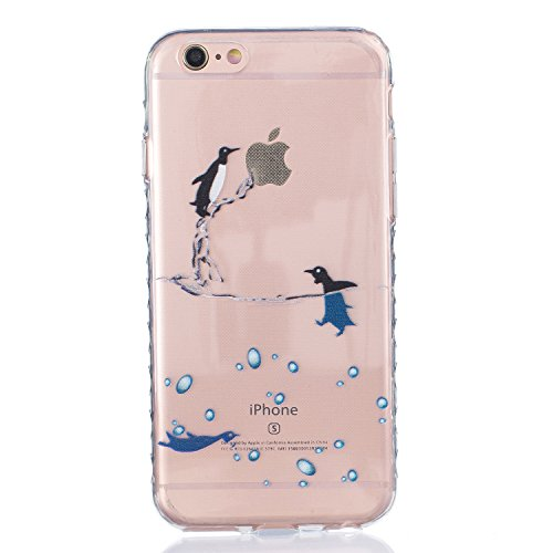 Coque iPhone 6 Plus Silicone Coque pour iPhone 6s Plus (5.5), Sunroyal® Ultra Slim Etui Housse Transparente [Absorption de Choc] Gel TPU Souple Shell Protection pour Apple iPhone 6 Plus/6s Plus (5.5 p Non-slip 01