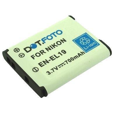 nikon-en-el19-premium-replacement-rechargeable-camera-battery-from-dotfoto-37v-700mah-2-year-warrant