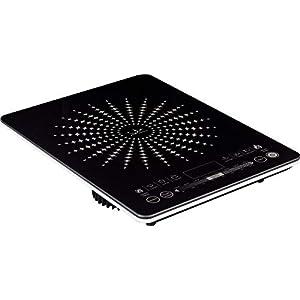 Jata VIN145 Cocina Eléctrica de Inducción Portátil con Placas de 12 a 26 cm de Diámetro 8 Funciones Pulsadores Táctiles…