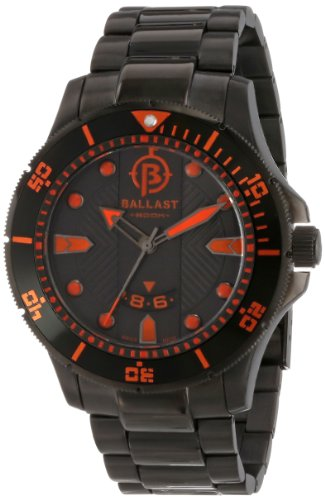 Ballast Men's BL-3114-66 Vanguard Analog Display Swiss Quartz Black Watch