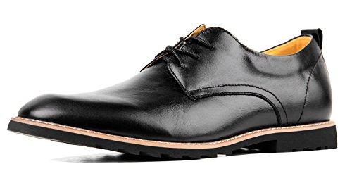 Schuhe Herren Derby Schwarz Oxfords Großformat Schnürhalbschuhe Rindleder Elegante Anzug Schuhe 47 EU - US 13