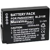 Maxsima - Battery for Panasonic DMC-GF2, GF2, G3, GX1, DMW-BLD10, DMW-BLD10E, 1030mAh BATTERY PACK. BLD10. Fully Compatible.
