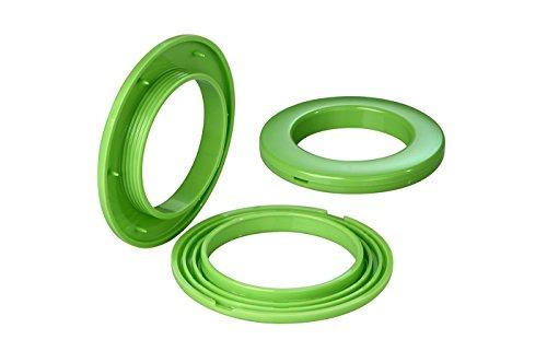 Stoffösen für Stoffloch Ø 40 mm, verwendbar für alle Stoffstärken, 10 Stück, Kunststoff, cactus