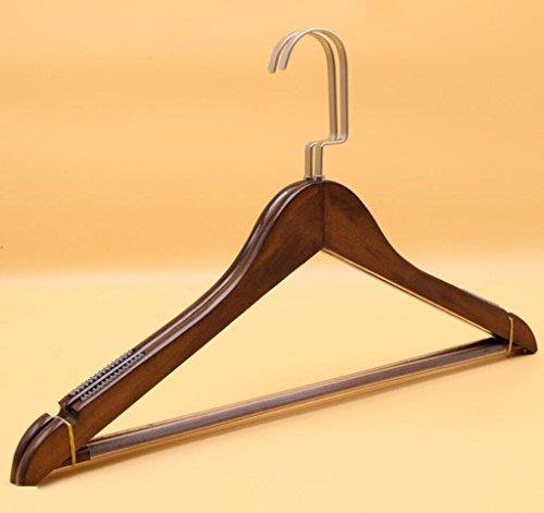 GFYWZ Hanger Multifonctionnel Haute qualité Bois massif Non glissé Crochet plat Cintres Magasin de vêtements Pack de 20 , log color , 44*26cm