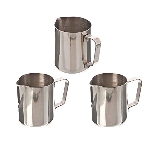 41KspedpaoL - Chytaii 350ml Espresso Coffee Frothing Stainless Steel Milk Jug Milk Pitcher Milk Frothing Pitcher