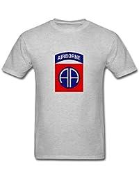 Men's 82nd Airborne Division Logo T-Shirt S ColorName Short Sleeve XXXX-L
