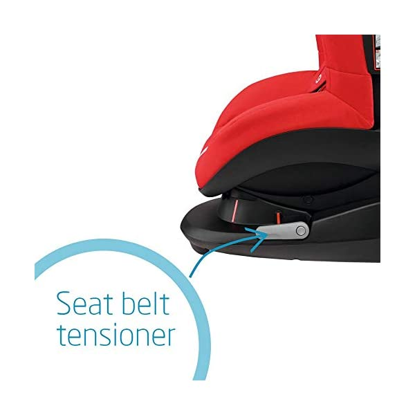 Maxi-Cosi Tobi Toddler Car Seat Group 1, Forward-Facing Reclining Car Seat, 9 Months-4 Years, 9-18 kg, Nomad Red Maxi-Cosi Forward facing group 1 car seat suitable for children from 9 to 18 kg (approx. 9 months to 4 years) Install with a 3-point car seat belt, with clear and intuitive seat belt routing High seating position allows toddler to watch outside the window 4