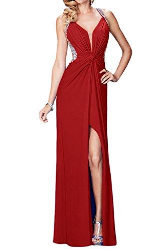 Missdressy - Robe - Trapèze - Femme Rouge - Rouge bordeaux