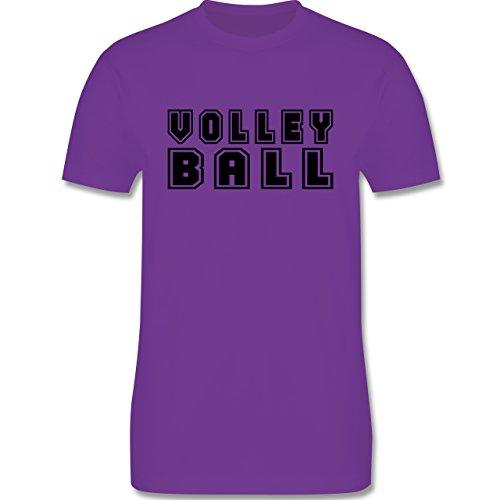Volleyball - Volleyball Schriftzug - Herren Premium T-Shirt Lila
