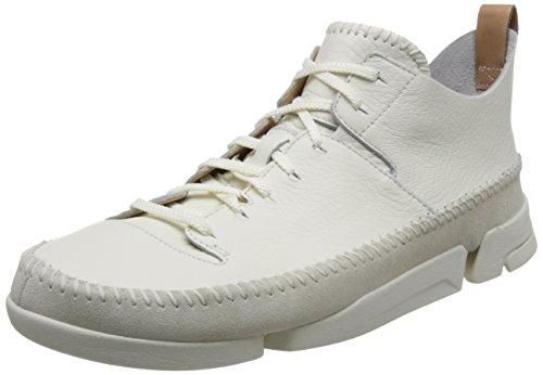 Clarks Originals Trigenic Flex, Herren Sneakers, Weiß (Weiß Leather), 41 EU (7 Herren UK)