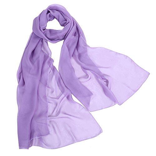 bbonlinedress Schal Chiffon Stola Scarves in verschiedenen Farben Lilac 190cmX70cm