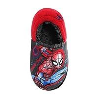 Boys Spiderman Character Slippers - Fleece Lining (11 UK Child)