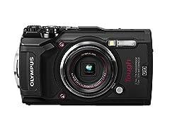 Olympus Tough TG-5 Digitalkamera (12 MP, 25-100 mm 1:2,0 Objektiv, GPS, Manometer, Temperatursensor, Kompass) schwarz