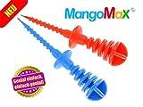 MangoMax mit Edelstahlspitze - MangoMax einfach in den Kern der Mango eindrehen und schon haben sie ihre Mango sicher im Griff. Kein
