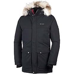 Columbia Homme Veste d'Hiver Imperméable, Sundial Peak Jacket, Nylon, Noir, Taille XXL, 1683432