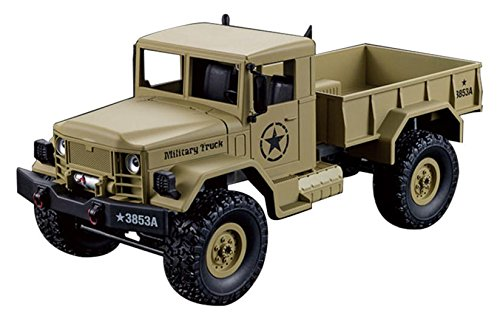 Heng Lengthy 1:16 Radio Distant Controll 3853A Army Truck Automobile Tank 4WD Desert Evaluation