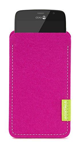 Doro WildTech Sleeve für Doro 8031 Hülle Tasche - 17 Farben (Handmade in Germany) - Pink