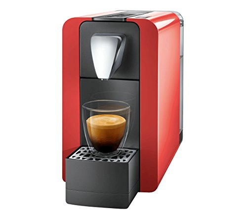 Cremesso by Benture Compact One II glossy red - Kaffeekapselmaschine für das leckere Cremesso /...