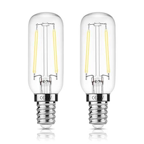 E14 T25 LED 2W Dunstabzugshaubenlampe, 150LM, 15W Ersatzglühlampe, DORESshop Edison Glühlampe, Day White 6000K, nicht dimmbar, Gerätelampe für Dunstabzugshaube, Dekoration, 2er Pack