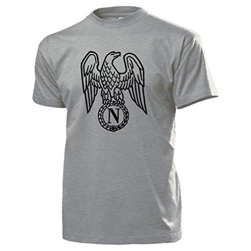 Napoleon Bonaparte Adler Wappen Abzeichen Logo Emblem Kaiser Frankreich General - T Shirt #16883 (Adler-logo-shirt)