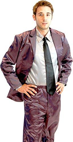 How I Met Your Mother Purple Seide Pajama Suit with Grau Shirt (Iron Purple) (Herren Medium) (Barney Stinson Kostüm)