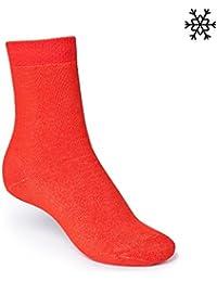 ThokkThokk Plain High-Top Plüsch Socken orange