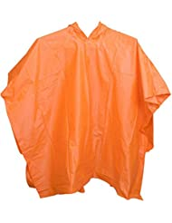 Poncho tamaño libre niños peso ligero impermeable con capucha impermeable senderismo Camping impermeable, naranja