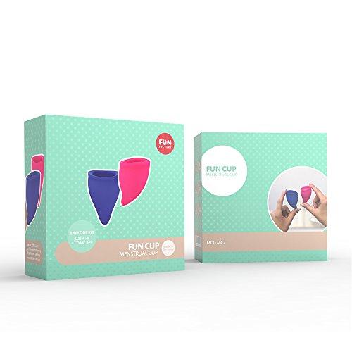 FUN FACTORY FUN CUP EXPLORE KIT - Zwei Menstruationstassen für starke und schwache Blutung inkl. Tasche - 5