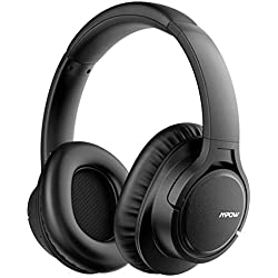 Mpow H7 Casque Bluetooth sans Fil, Casque Audio Oreillette Bluetooth avec 18 Heures de Jeu, Cache-Oreilles Confortable et Son Haute Fidélité pour Téléphone/Tablettes/PC