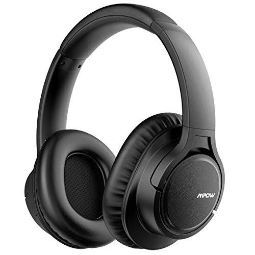 Mpow H7 Casque Bluetooth sans Fil, Casque Audio Oreillette Bluetooth avec 18 Heures de Jeu, Cache-Oreilles Confortable et Son...