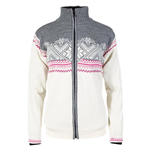 Dale of Norway Damen Glittertind Fem. JacketWP Jacket, Off White/Light Charcoal/Allium/Smoke, L