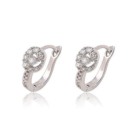 XUPING Boucles d'oreille Clous d'Oreille Boucles d'oreilles Créoles Femme - Cadeau de Nouvelle Année Eve (Grip Y11-91249)