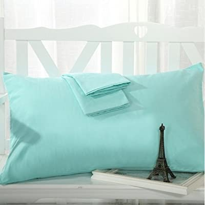 EGYPTO LUXURY PILLOW CASES POLYCOTTON PAIR PACK HOUSEWIFE BEDROOM PILLOW COVER, STANDARD SIZE - 50cm x 75cm