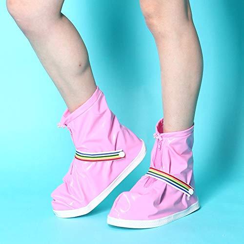 Zyklus wasserdichte Überschuhe Regenfeste Schuhe dicke verschleißfeste wasserdichte Überschuhe mit Reißverschluss wasserdichte Schicht modische Mode rutschfeste Regen Stiefel Warme winddichte Überschu -