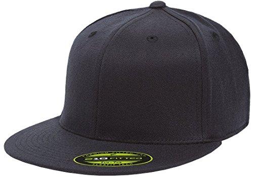 Flexfit/Yupoong Herren 210 Fitted Flat Bill Cap Mütze, Dunkles Marineblau, X-Large 210 Fitted Cap