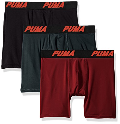 Puma Uomo Boxer Slip Volume, 3pezzi Dark Red