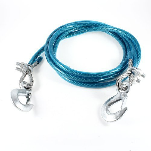 Carsaaz 5 Tone 3M Steel Wire Towing Rope Snatch Strap for Car