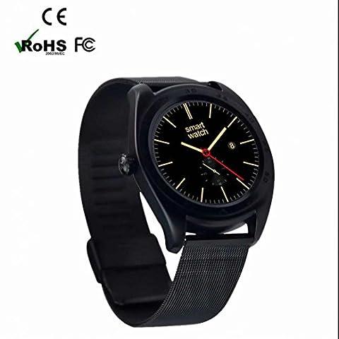 Smartwatch Fitness Tracker Smartwatch Gesundheits- Herzfrequenz Monitor Armbanduhr mit Pedometer Schlafmonitor Remote Kamera für Android und iPhone iOS-Smartphones