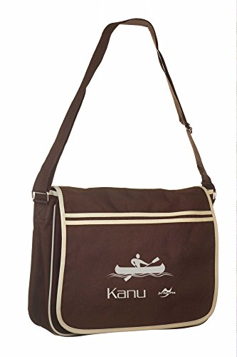 Retro Messenger Bag BG71 gold/schwarz Kanu